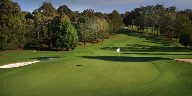 Looking back from the 13th green at Pennant Hills Golf Club