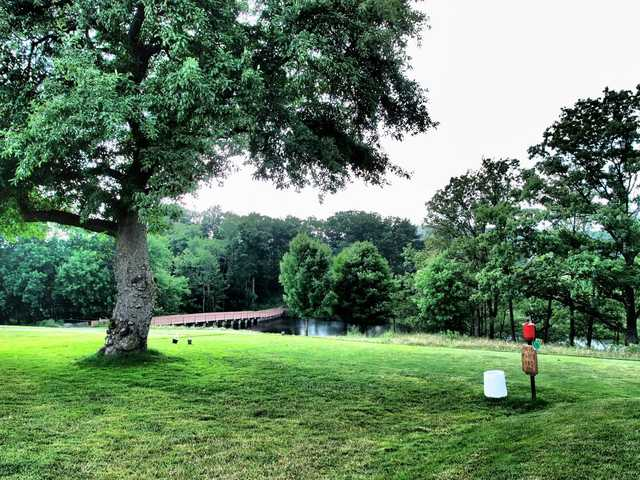 A view of a tee at Poconos Golf Course from Skytop Lodge.