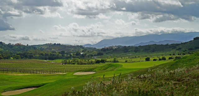 A view of a green at CrossCreek Golf Club.