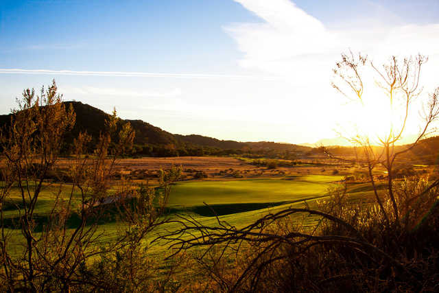 A view of the 6th green at CrossCreek Golf Club.