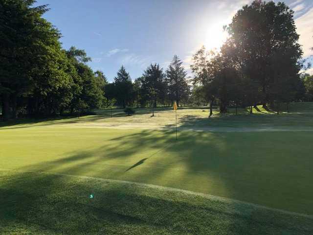 View of a green at Pontardawe Golf Club