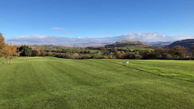 A view of a tee at Pontardawe Golf Club.