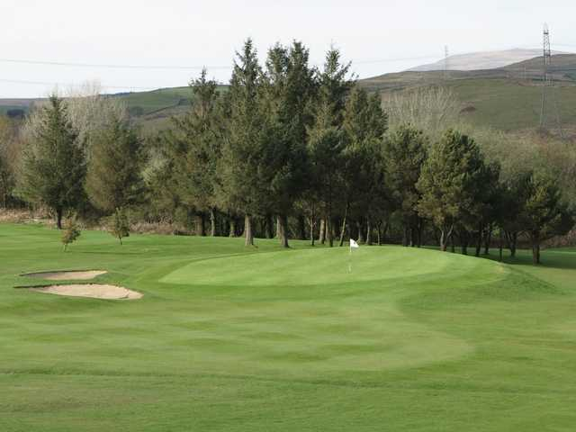 A view of the 14th green at Pontardawe Golf Club.