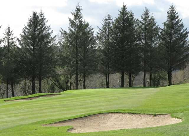 A view of hole #11 at Pontardawe Golf Club.