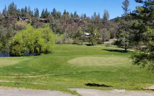 A view of a green at Adams Springs Golf Course (Lucy de Nickerson).