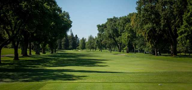 A view from a tee at Spring Creek Golf Course & Country Club.