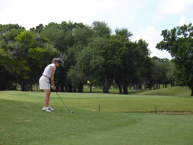 A view of the 13th green at Coral Oaks Golf Course.