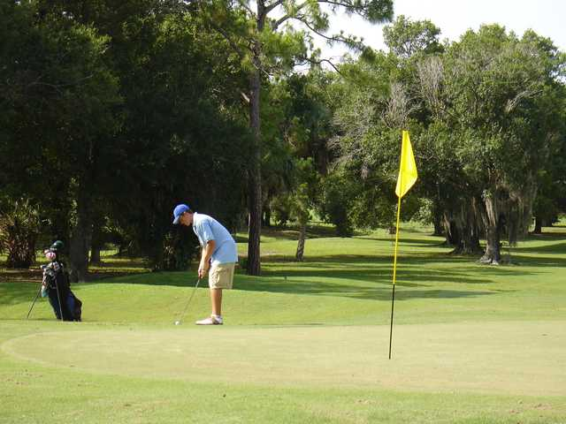 A view of the 6th hole at Coral Oaks Golf Course.