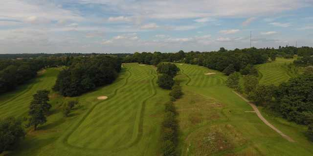 Aerial view from Brookmans Park Golf Club