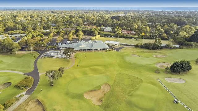 Aerial view from The North Course at Rosebud Country Club