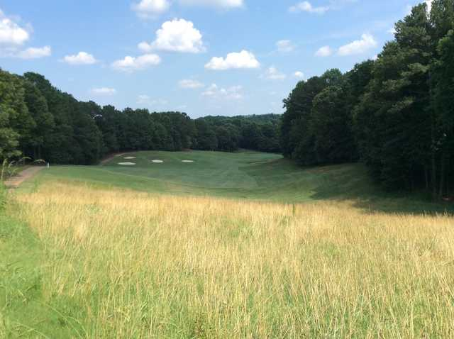 A view of a fairway at Towne Lake Hills Golf Club.