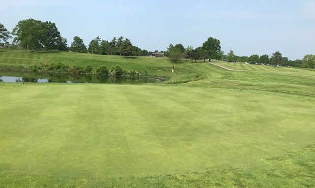 A view of a hole from The Golf Courses at Kenton County.