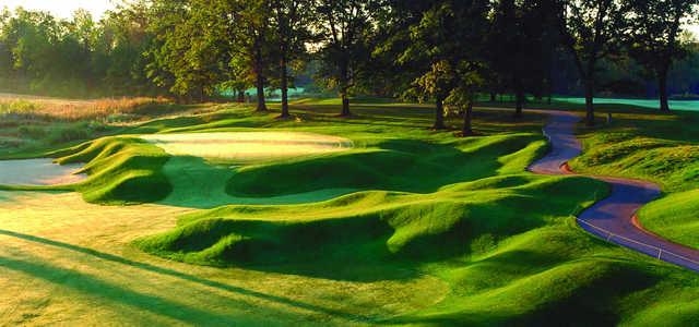 A view of a hole at Fieldstone Golf Club of Auburn Hills.