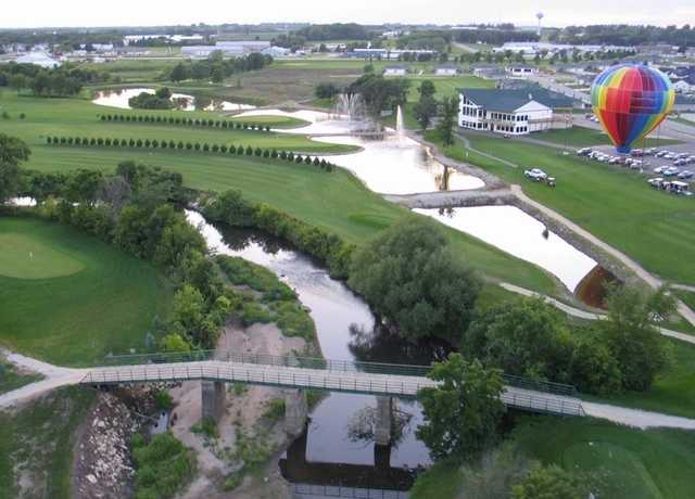 Riverview Greens: aerial view