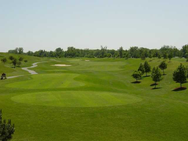 A view of tee #1 at Lakes of Taylor Golf Club.