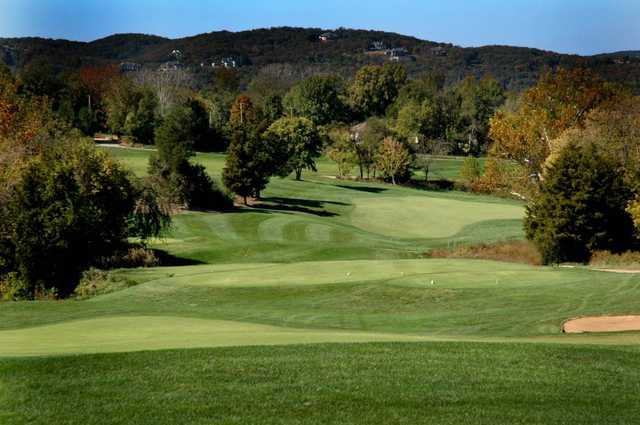 A view of tee #16 at Pevely Farms Golf Club.