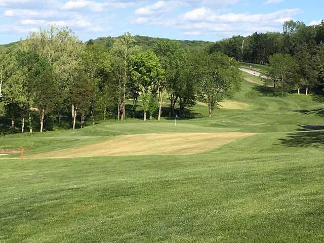 A view of the 17th green at Pevely Farms Golf Club.