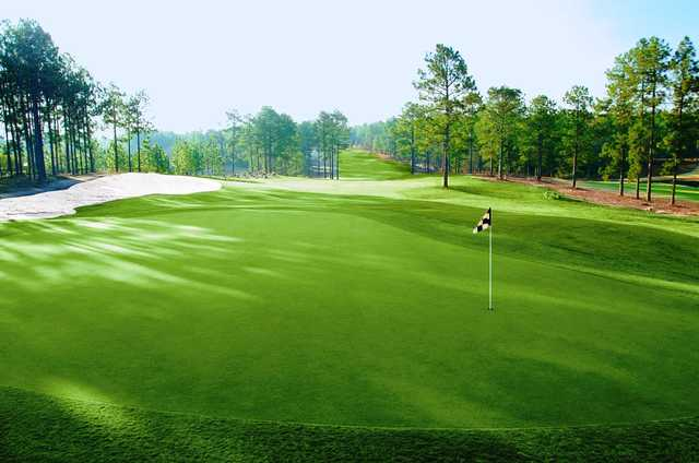 View of a green at Whispering Woods Golf Course