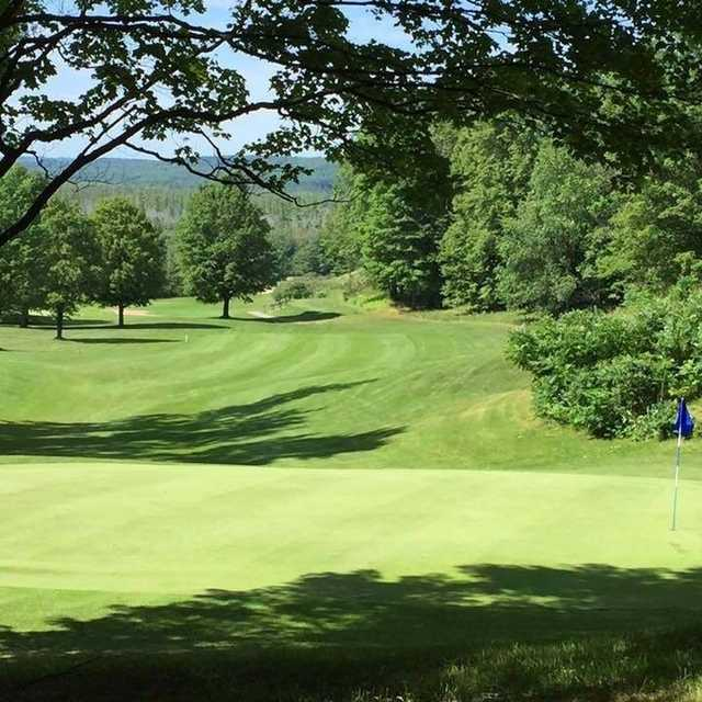 Looking back from a green at Springbrook Golf Club.
