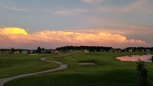 A sunset view from Stone Ridge Golf Club.