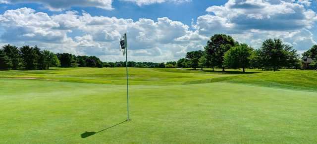 A sunny day view of a hole at Wetherington Golf & Country Club.