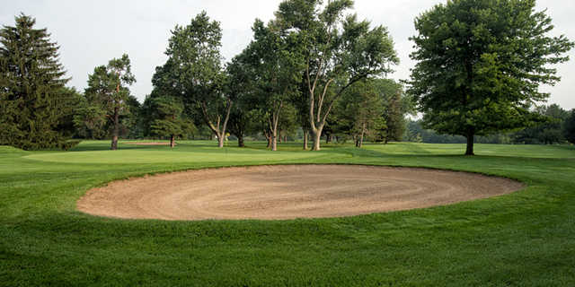 A view of hole #6 at Highland Meadows Golf Club.