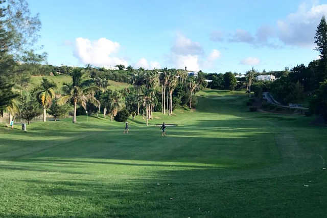 A view of a fairway at Belmont Hills Golf Club.