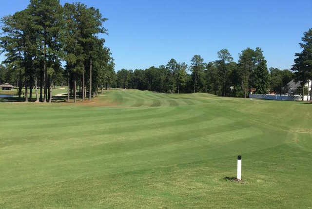 A view of a fairway at Dogwood Trace Golf Course.
