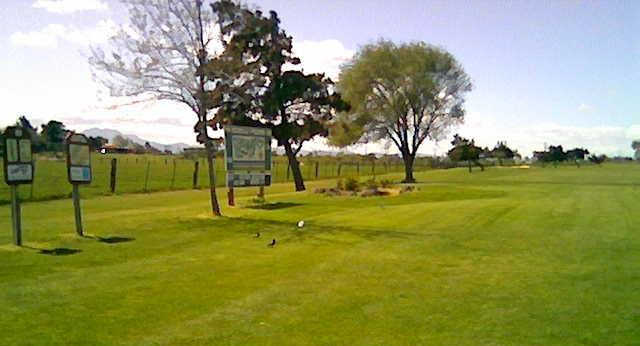 A view of a tee at Bethel Island Club.