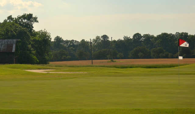 A view of a hole at Piankatank River Golf Club.