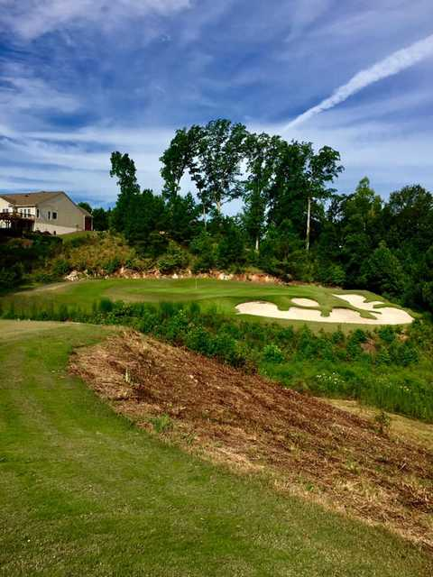 View of the 12th green at Carolina Lakes Golf Club