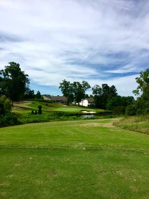 View of the 7th green at Carolina Lakes Golf Club