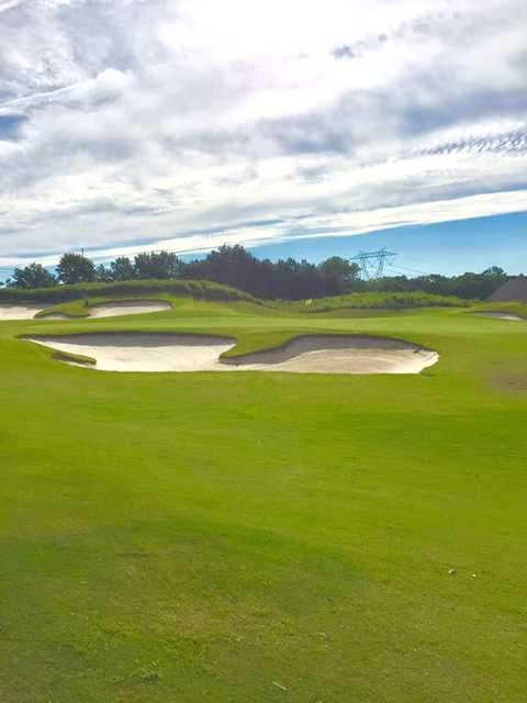 View of the 18th hole at Carolina Lakes Golf Club