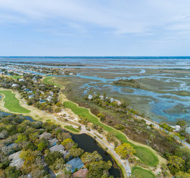 Aerial view from Harbor Course at Wild Dunes Golf Links