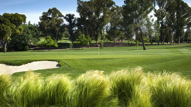 A sunny day view of a hole at Contra Costa Country Club.