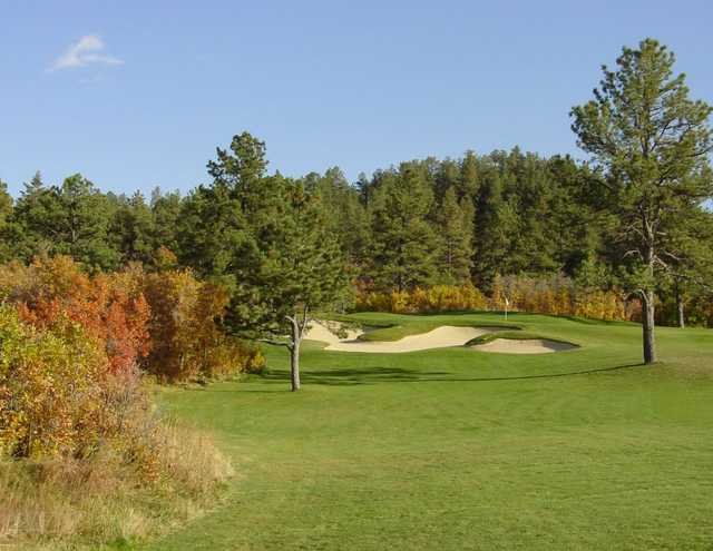 A view of the 13th green from The Golf Club at Bear Dance.