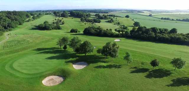Aerial view from Ashley Wood Golf Club