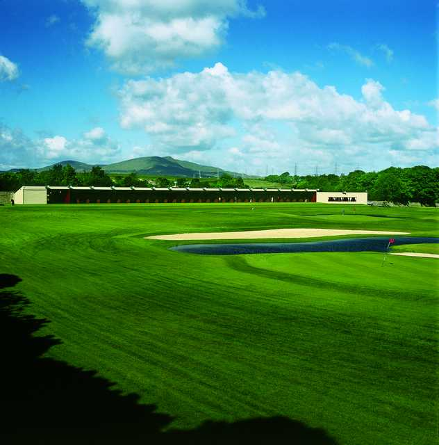 A view of the driving range at Kings Acre Golf Course and Academy