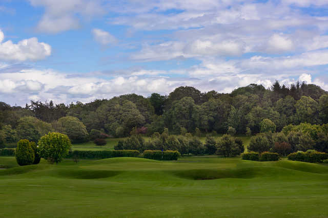 View of the 3rd green at Kings Acre Golf Course and Academy