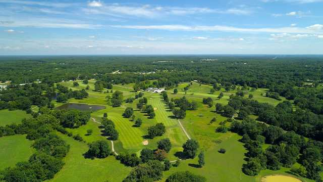 Aerial view from Eldon Golf Club