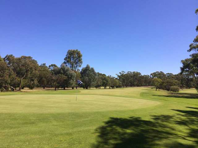 View of a green at Echunga Golf Club