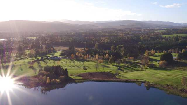 Aerial view from Aboyne Golf Club