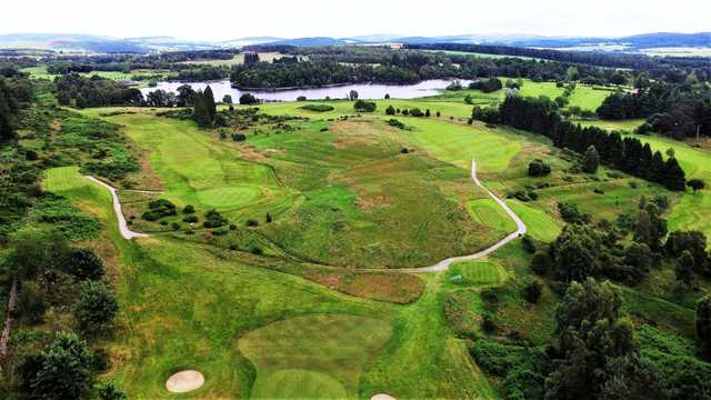 Aerial view from Aboyne Golf Club.