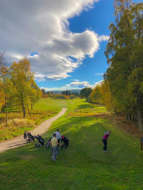 View from the 16th teen at Aboyne Golf Club