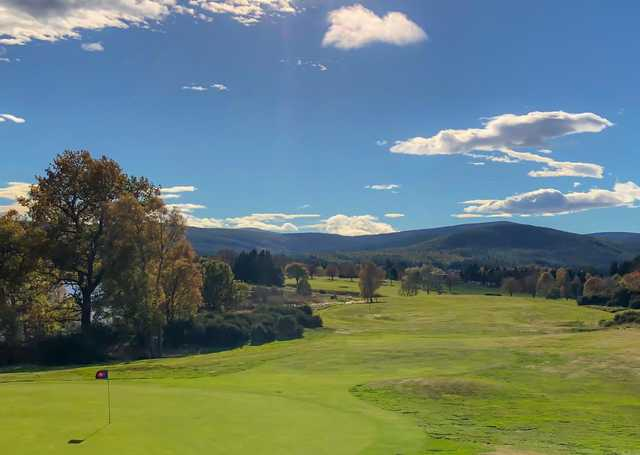 View from the 10th green at Aboyne Golf Club