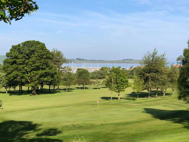 View of the 5th green at Largs Golf Club.