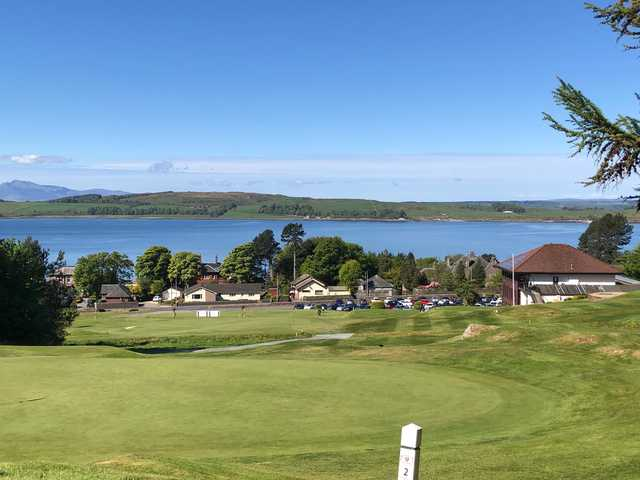 View from the 2nd tee at Largs Golf Club
