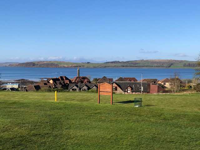 View from the 18th tee torwards the river at Largs Golf Club