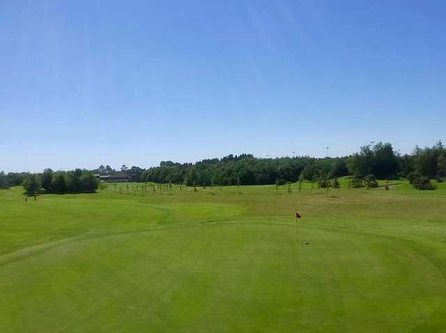 View from a green at Allen Park Golf Club