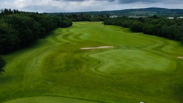 Aerial view of a green at Allen Park Golf Club